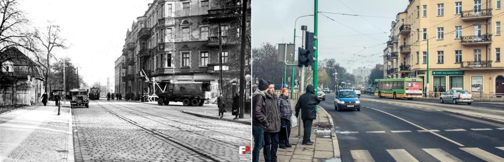 Ulica Grunwaldzka przy Matejki, 1950 r.