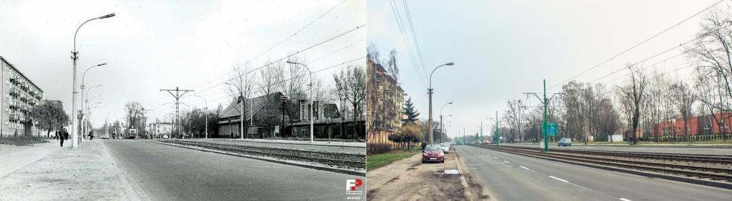 Ulica Grunwaldzka 1967 r., kościół przy skrzyżowaniu ulic Grunwaldzkiej i Grochowskiej