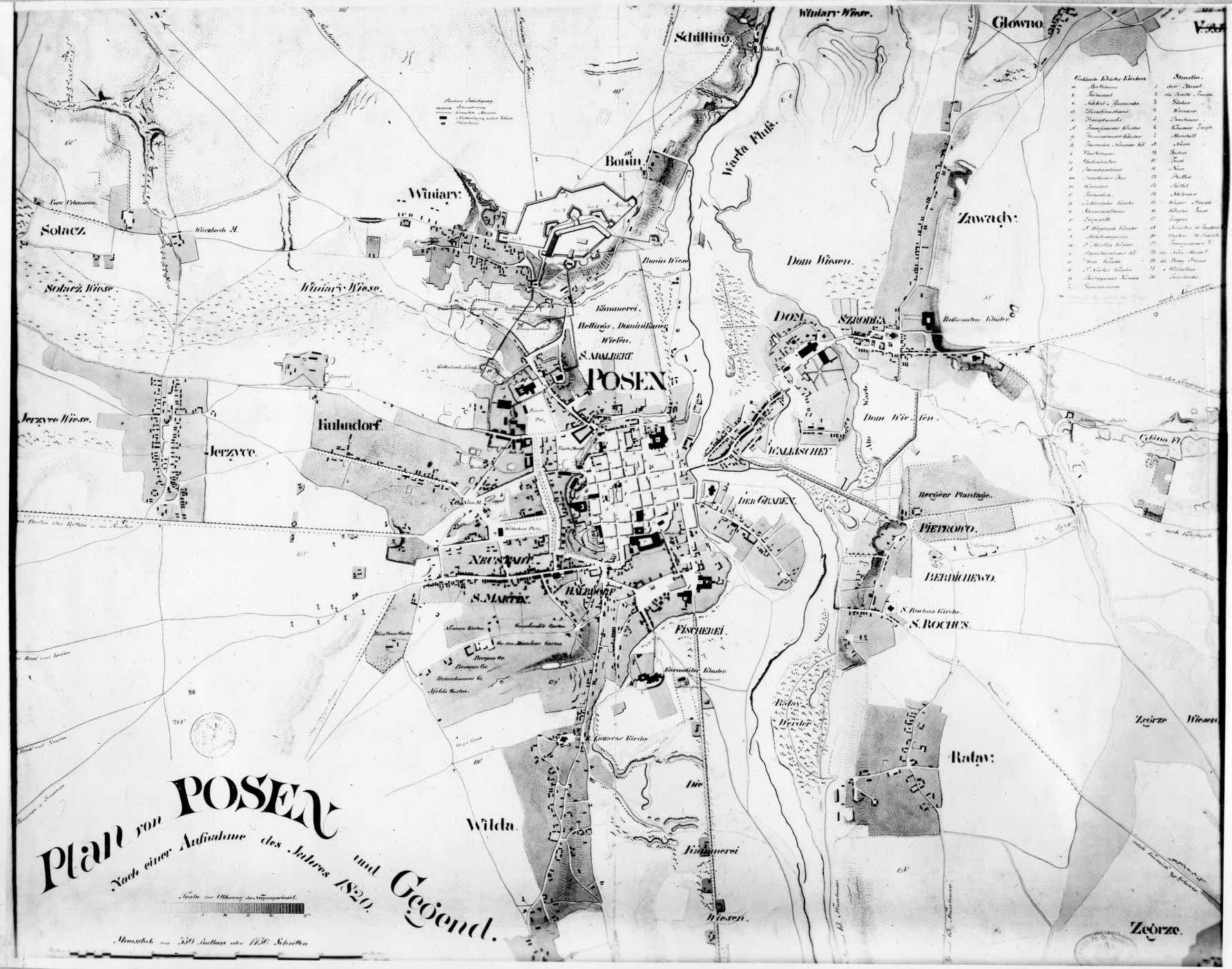 Plan Poznania 1820 rok