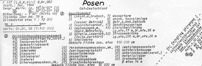 Poznań Wilda, Łazarz 1944 z lotu ptaka - legenda