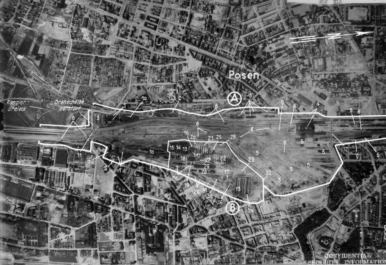 Poznań Wilda, Łazarz 1944 z lotu ptaka